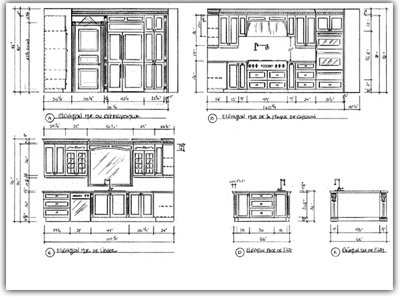 3D Kitchen Design Plans